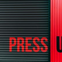 Press Up Sign Painted Shutter Lettering
