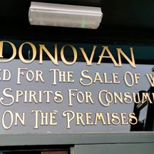 Traditional Gold Leaf Sign Painted Lettering on Glass