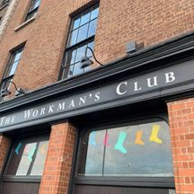 The Workmans Club Sign Painted Lettering